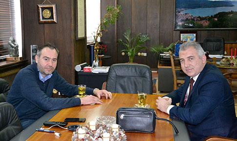 Градоначалникот Георгиески се сретна со Државниот инспекторат за градежништво и урбанизам Локман Љимани
