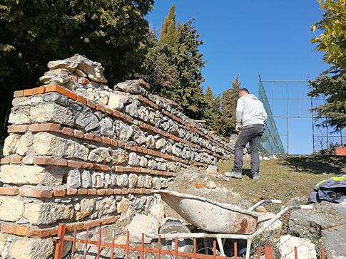 """Се санира потпорниот ѕид кај ОУ """"Св. Климент Охридски"""""""