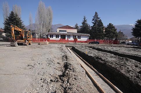 """Започна изградбата на спортската сала во ОЕМУЦ """"Св. Наум Охридски"""""""